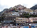 Positano Buildings from the Beach - panoramio.jpg