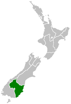 Otago Region within New Zealand