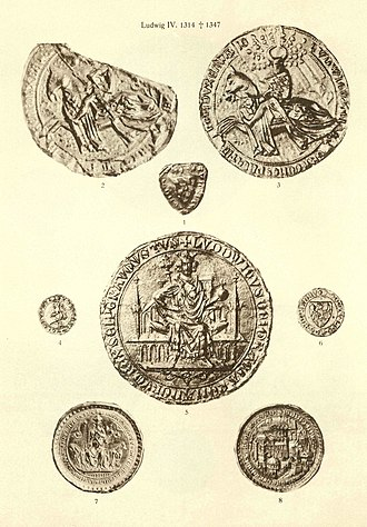 Louis IV, Holy Roman Emperor - Seals of Louis IV (Otto Posse 1909)