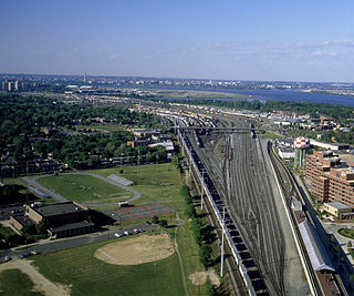 former rail yard in the U.S. state of Virginia