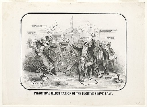 Practical illustration of the Fugitive Slave Law, by E.C. del, 1851. Public Domain.