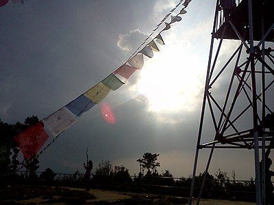 Prayer Flag and survey tower Nagarkot Nepal.jpg
