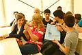 Preisverleihungs-Scene im Schülerwettbewerb beim Boulefestival Hannover 2012 I.jpg