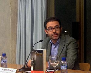 Emili Rosales i Castellà - Rosales at the presentation of La vida és lenta