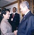 President Arroyo with Malaysian Prime Minister Abdullah Badawi (2003).jpg