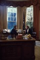 President Ronald Reagan talks to Senator Dan Quayle at his desk in the Oval Office of the White House, Washington, D.C LCCN2011632935.tif