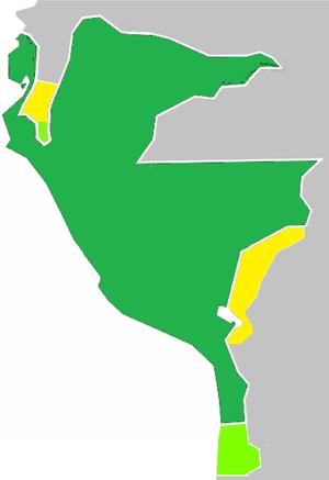 Protectorate of Peru - Image: Protectorado de San Martín Departamentos Libres del Perú