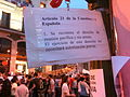 Protests in Puerta del Sol, Madrid - Article 21 of constitution.jpg