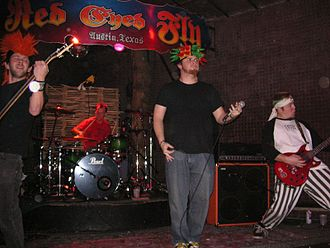 Psychostick - Psychostick performing in Austin, Texas in 2006. From left to right: Mike Kocian, Alex Dontre, Rob Kersey, and Josh Key