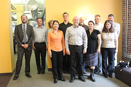 Wikimedia pilot project team and advisory board in August 2010.