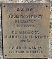 Public libraries 200 years in Finland plaque 2.jpg
