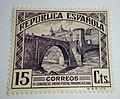 Puente de Alcántara (Toledo) sello 1931.jpg