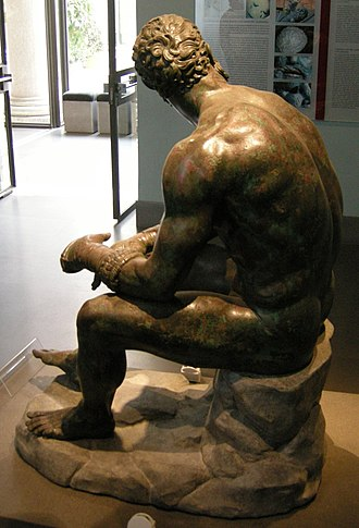 Boxer at Rest - View of the back of the sculpture