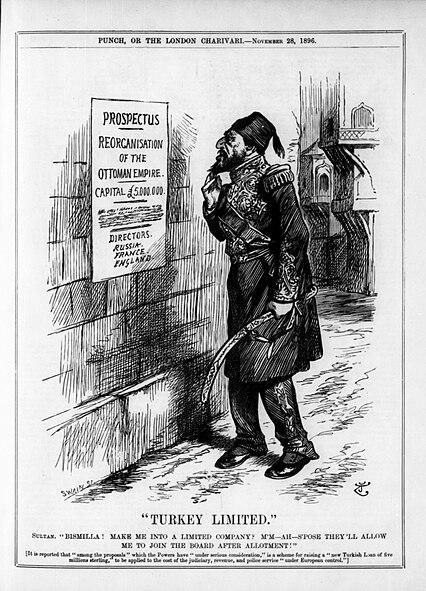 Punch magazine - Turkey Ltd - 1896