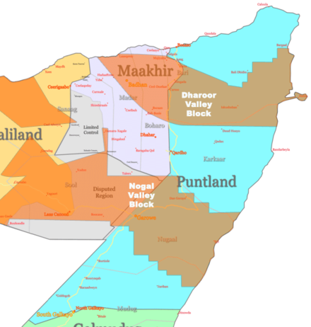 Oil blocks in Puntland Puntland oil.png