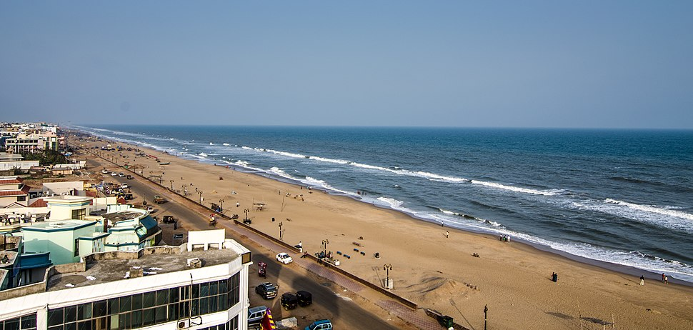 Puri Sea Beach viewed from the light house