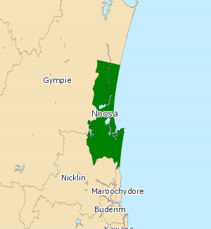 Electoral district of Noosa - Electoral map of Noose 2008