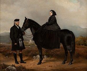 1894 in art - Image: Queen Victoria with John Brown