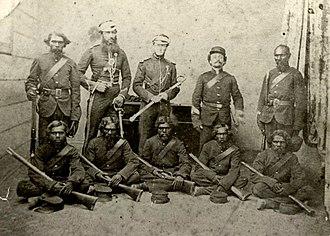 Australian native police - Native Police, Rockhampton, 1864