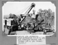 Queensland State Archives 4606 Dignity and Impudence RustonBucyrus 212 cyd all electric shovel and Harman 38 cyd Diesel shovel Somerset Dam January 1937.png