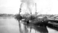 Queensland State Archives 57 Wharves and shipping South Brisbane Reach Brisbane River October 1930.png
