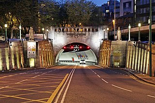 Queensway Tunnel road tunnel under the River Mersey in England