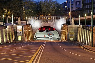 Queensway Tunnel - The Liverpool Entrance to the Queensway Tunnel