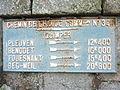 Quimper 92 Ancien panneau routier au pied du mont Frugy.JPG