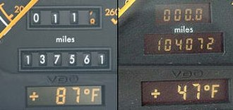 Mercedes-Benz SL-Class (R129) - Odometer switched from mechanical to electronic between the 1994 and 1995 models.