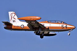RAAF Commonwealth CA-30 (MB-326H) landing at RAAF Air Base Edinburgh.jpg