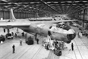 RB-36D in Convair plant