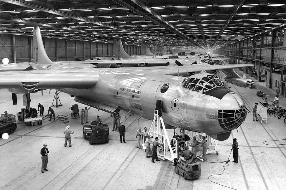 RB-36D in Convair plant
