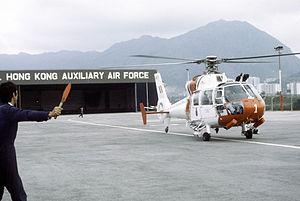Aérospatiale SA 360 Dauphin - RHKAAF SA 360 Dauphin at Kai Tak in 1982