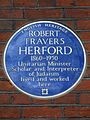 ROBERT TRAVERS HERFORD 1860-1950 Unitarian Minister Scholar and Interpreter of Judaism lived and worked here.jpg
