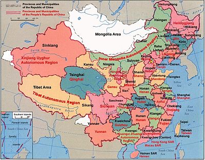 Ciudades De China Mapa.Provincias De China Wikipedia La Enciclopedia Libre
