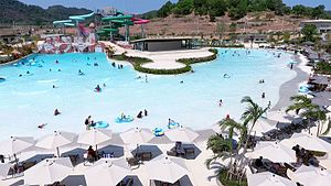 Wave pool - The double wave pool at RamaYana Water Park