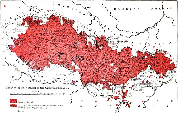 The Racial distribution of the Czechs and Slovaks