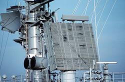 Radar antennas on USS Theodore Roosevelt CVN-71.jpg