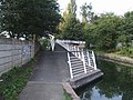 Ramp onto Trapmakers Bridge - Wyrley and Essington Canal - geograph.org.uk - 1474200.jpg