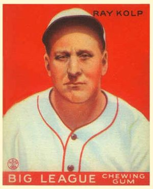 Ray Kolp - Ray Kolp 1933 Goudey card