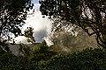 Rayos de sol y sombras en bosque y nubes en Garajonay 1087.jpg