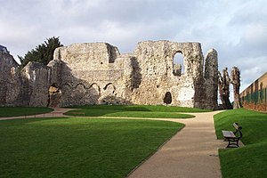 Reading Abbey - The chapter house, from the site of the monks' dormitory