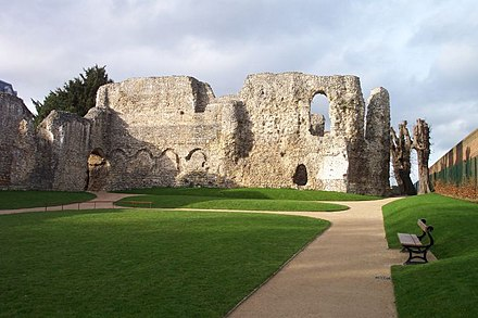 Reading Abbey, one of Henry's favoured religious institutions Reading Abbey interior.jpg