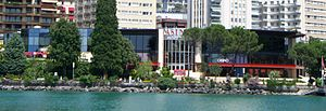 Montreux Casino - Closeup of the Montreux Casino, rebuilt in 1975