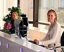 receptionist wikipedia