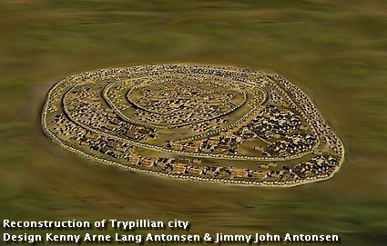 Reconstructed Trypillian city c 4000 B.C.