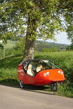 Twike - Red TWIKE active - the type with pedals, additional