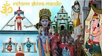 Hinduism in Trinidad and Tobago - Reform Village Shiva Mandir at Railway Road, Reform Village, Gasparillo, San Fernando, Trinidad and Tobago