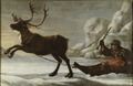 Reindeer with a sledge (David Klöcker Ehrenstrahl) - Nationalmuseum - 39328.tif