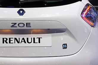 Renault Zoe - Renault Zoe Zero Emissions (ZE) badge